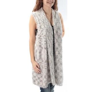 Womens Ivory Sleeveless Open Vest Sweater Size XS