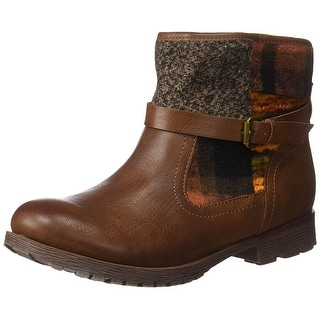ROCK & CANDY Womens Talita Round Toe Ankle Chelsea Boots