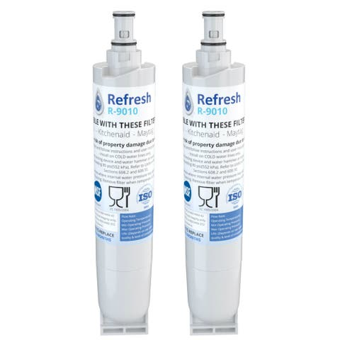 Replacement Water Filter For Whirlpool WF-NL300 Refrigerator Water Filter - by Refresh (2 Pack) - White
