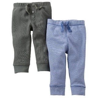 Carter's Baby Boys' 2 Pack Pants (Baby) - Olive - Newborn