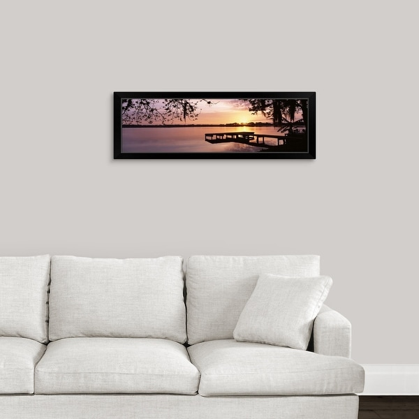 """Florida, Orlando, Koa Campground, Lake Whippoorwill, Sunrise"" Black Framed Print"