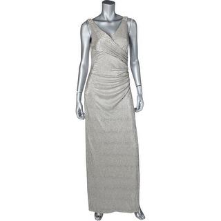 Lauren Ralph Lauren Womens Zilette Evening Dress Metallic Embellished