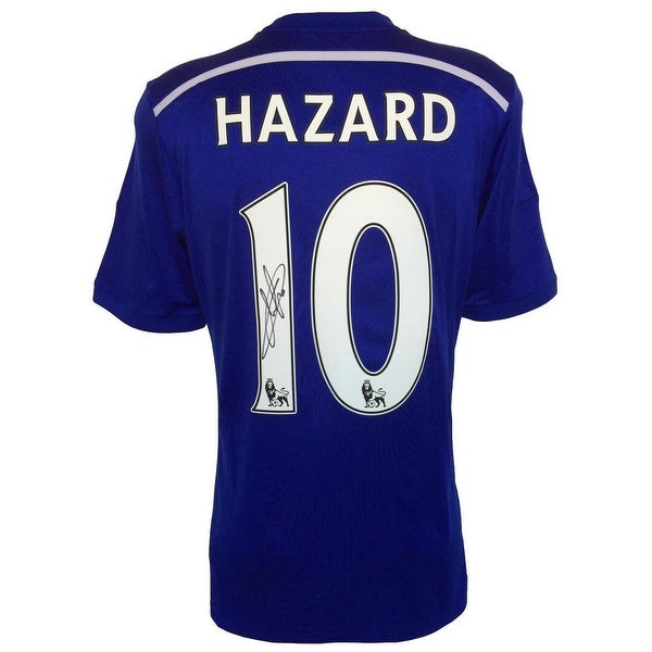 0cf646c68 Shop Eden Hazard Signed 2014 15 Chelsea FC Home Soccer Jersey Icons ...