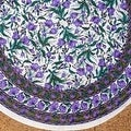 Beautiful Handmade 100% Cotton French Floral Print Tablecloth 60 inches & 72 Inch & 90 Inch Round - Thumbnail 12
