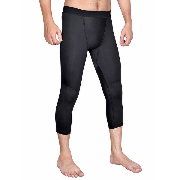 331f518a1a Shop Men's Cool dry3/4Base Layer Compression Pants, Gym Tights ML3 ...