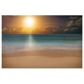 """Sunrise over a beach"" Poster Print"