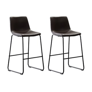 Link to Home Beyond Set of 2 Pcs Synthetic Leather Upholstered Barstools Armlesss with Metal Frame UC-13HB Similar Items in Dining Room & Bar Furniture