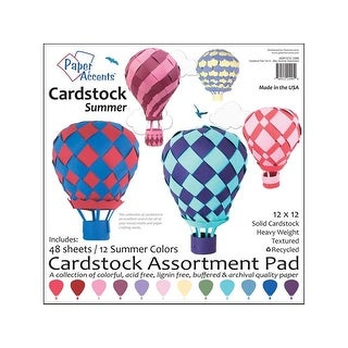 Cardstock Pad 12x12 48pc Summer Assortment
