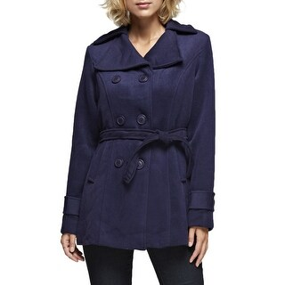 NE PEOPLE Womens Wool Double Breasted Pea Coat With Belt [NEWJ913]
