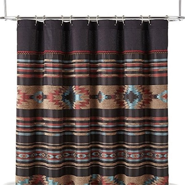 Shop Veratex 736425620171 Santa Fe Shower Curtain Rust