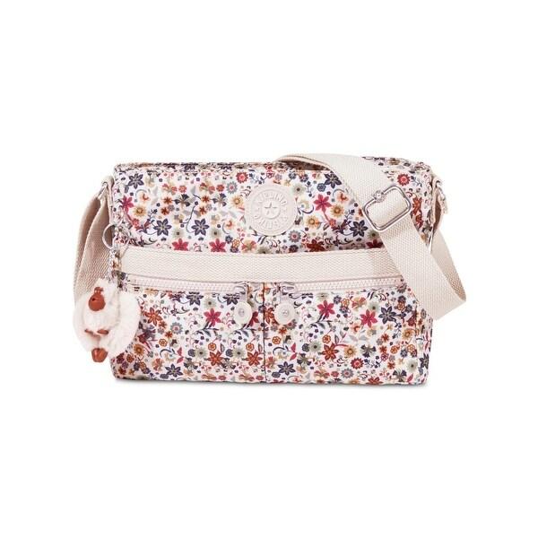 Shop Kipling Womens Angie Crossbody Handbag Floral Print Convertible Medium Free Shipping On