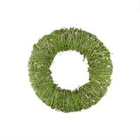 "12"" Green Moss and Vine Artificial Spring Wreath"