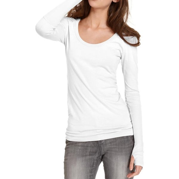 Alternative Apparel Womens Pullover Top Cotton Ribbed Trim