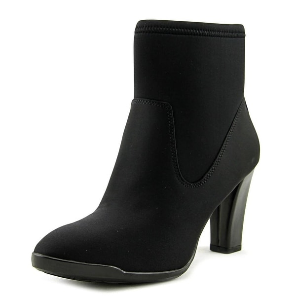Anne Klein Sport Edrea Women Round Toe Synthetic Black Ankle Boot
