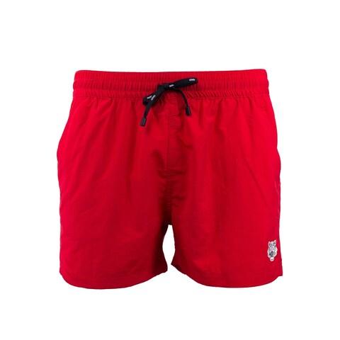 Kenzo Mens Red Tiger Bathing Suit Swim Shorts
