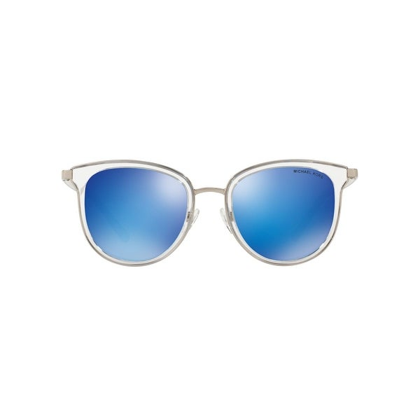 Michael Kors Chelsea Silver Metal Silver Mirrored Polarized Lens Aviator Sunglasses. Opens flyout.