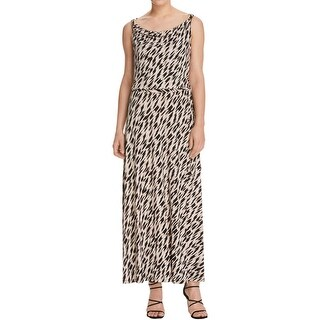 Calvin Klein Womens Maxi Dress Printed Blouson
