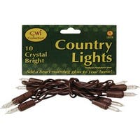 Light Set, Brown Cord, 10ct