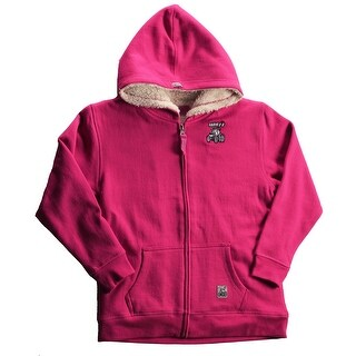 Case IH Little Girl's Zip-Up Sherpa Hoodie