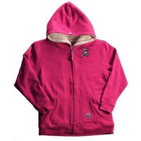 Case IH Toddler Girl's Zip-Up Sherpa Hoodie