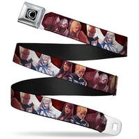 Marvel Universe Moon Knight Logo Full Color Black Silver Fade 6 Superhero Seatbelt Belt