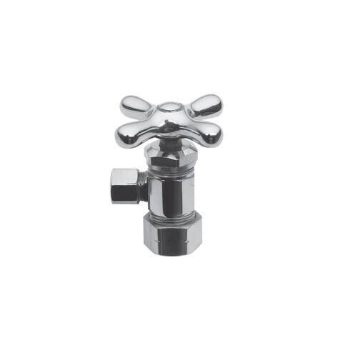 """Brasstech 403X Metal Cross Handle Angle Valve with 1/2"""" Compression Inlet"""