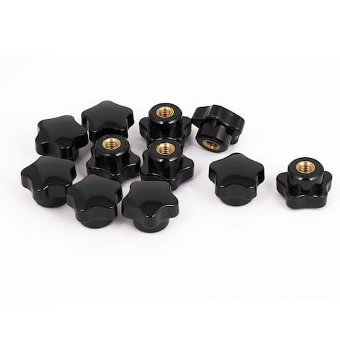 Unique Bargains 11pcs 8mm Female Threaded Dia Clamping Star Shaped Head Knob Extra Grip Handgrip