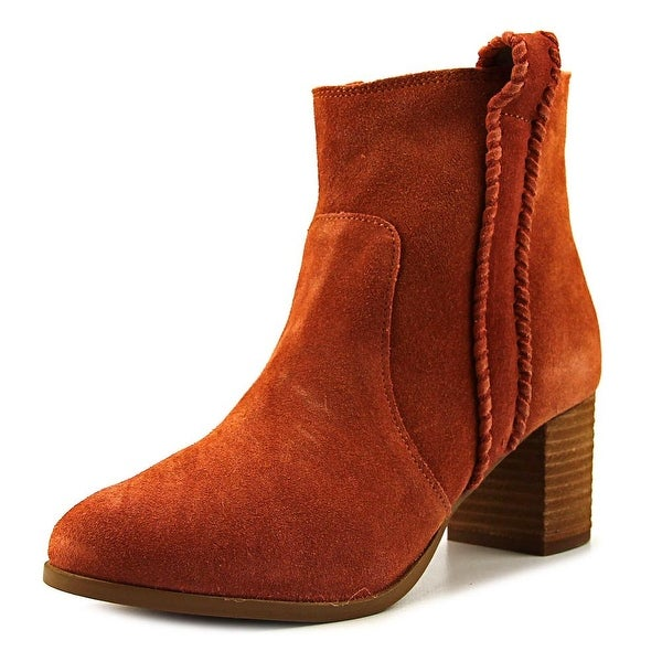 Coconuts By Matisse Tina Women Round Toe Suede Tan Bootie