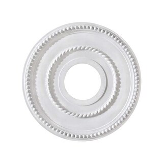 "Canarm FM-39 Pearl Ceiling Medallion With 3-5/8"" Center Opening"