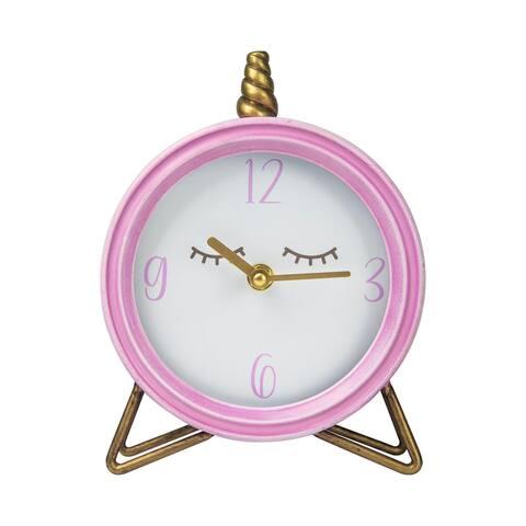 Stratton Home Decor Unicorn Table Top Clock - 6.25 X 2.00 X 8.00