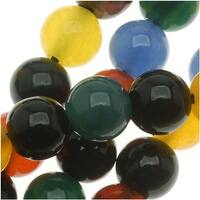 Agate Color Mix - 6mm Round Beads /15.5 Inch Strand