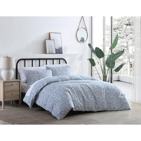 Azalea Skye Half Moon Cotton Blue Comforter Set