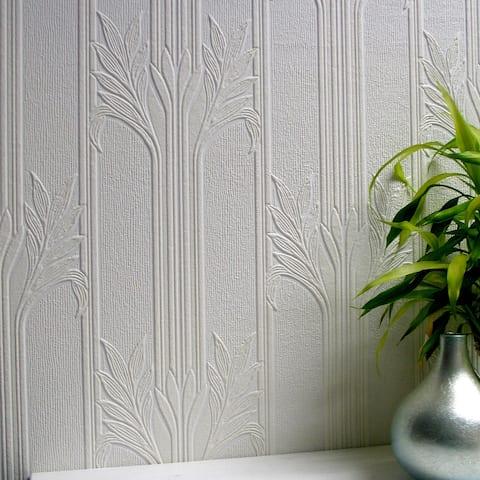 Greenfield, Wildacre Paintable Textured Vinyl Wallpaper