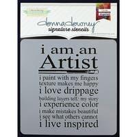 """Donna Downey Signature Stencils 8.5""""X8.5""""-Artist"""