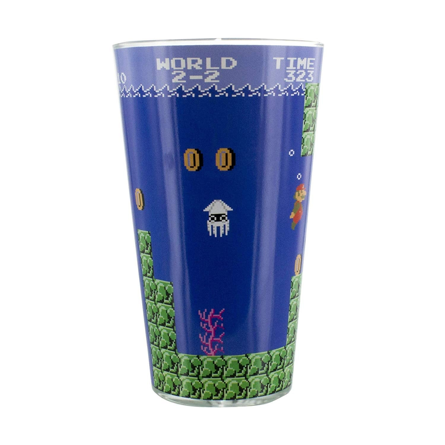 Etched Pint Glass Bowser Super Mario Bros
