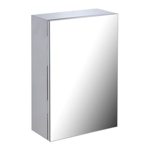 "22"" Stainless Steel Medicine Cabinet Mirror Wall Mount Medicine Cabinet - Silver"