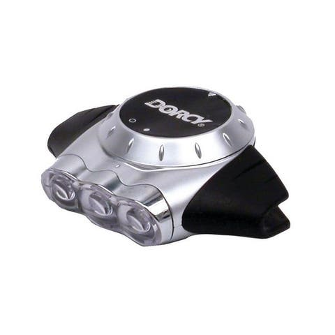 Dorcy 41-2105 Weather Resistant LED Cap Headlight Flashlight With Built-In Clip