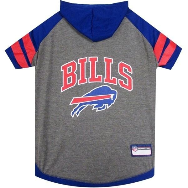 aa7462722ce Shop Buffalo Bills Pet Hoodie T-Shirt - Large - Free Shipping On Orders  Over $45 - Overstock.com - 20842132
