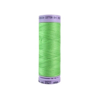 9105 1527 Mettler Silk Finish Cotton 50 164yd Jade Lime