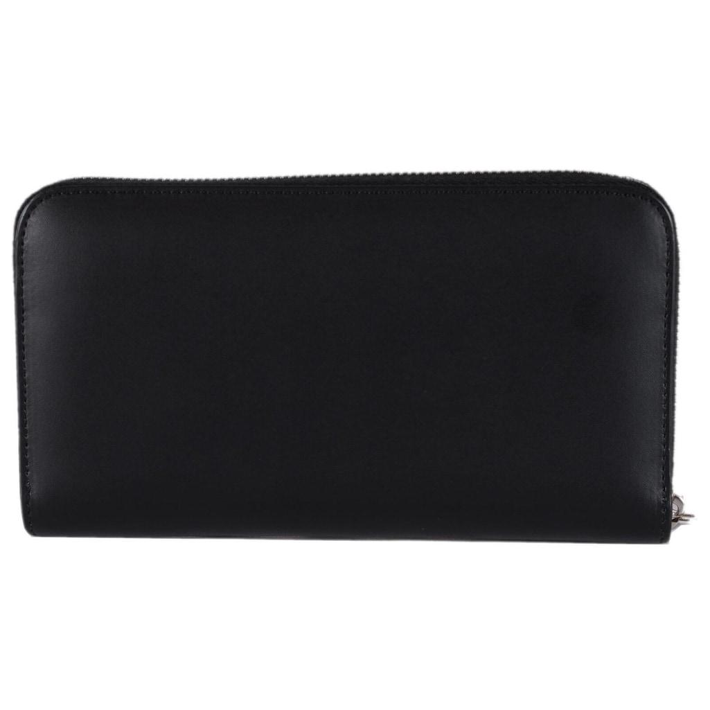 54d0dd66 Fendi Men's Black Leather FOREVER Zip Around FF Continental Wallet Clutch -  8