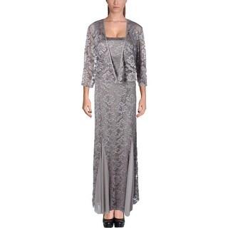 R&M Richards Womens Dress With Jacket Lace Sleeveless