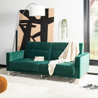 Safavieh Tribeca Emerald Steel Foldable Futon Bed - 77.1' x 33.1' x 36.6'