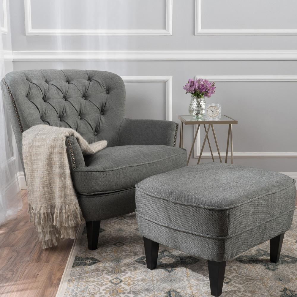 Tafton Tufted Club Chair with Ottoman