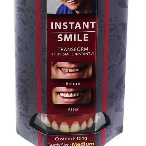 Instant Smile Deluxe Teeth Medium Top Veneers Cosmetic Dr Bailey's