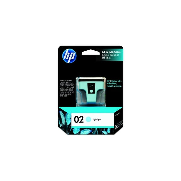 HP 02 Light Cyan Original Ink Cartridge (C8774WN) (Single Pack)