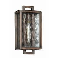 "Craftmade Z9804 Cubic 14"" Wall Sconce with Clear Water Glass Shade - Aged Bronze Brushed - N/A"