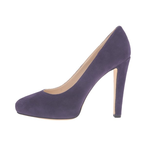 Nine West Womens Brielyn Leather Closed Toe Classic Pumps, Purple, Size 9.5