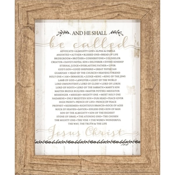 """17.25"""" White and Beige Religious Themed Rectangular Framed Wall Plaque - N/A"""