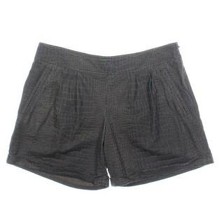 Catherine Malandrino Womens Textured Cuffed Casual Shorts - 4