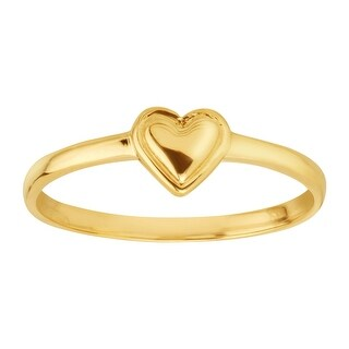 Just Gold Teeny Tiny Heart Ring in 14K Gold - Yellow